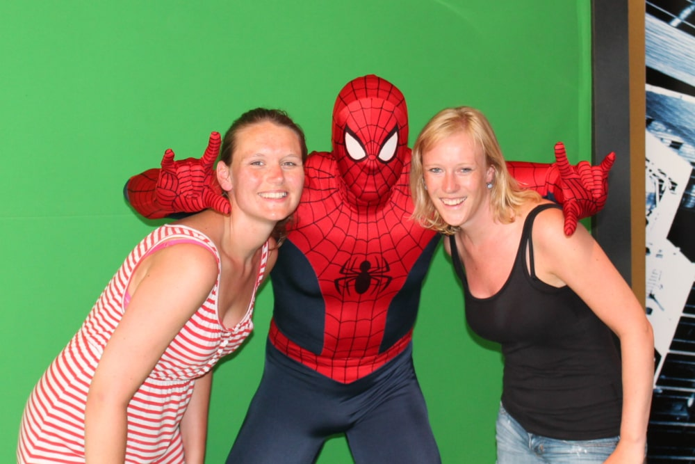 Jess en Co met Spiderman