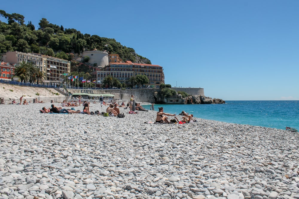 On the beach in Nice