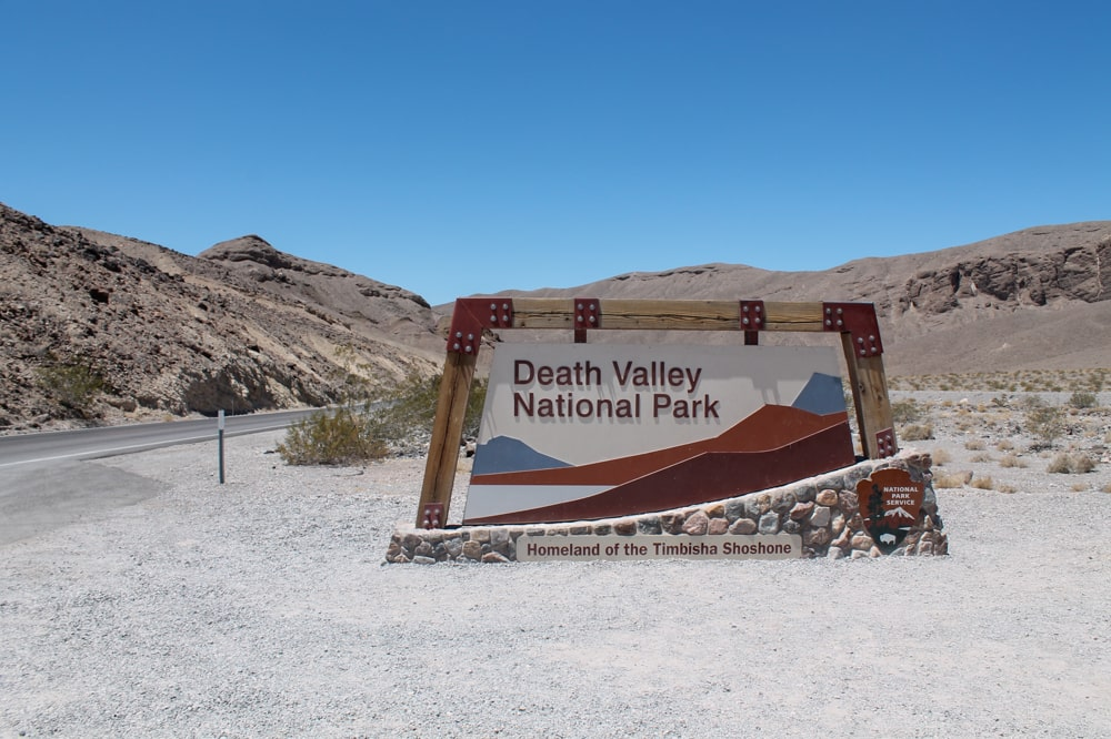 Ingang Death Valley NP