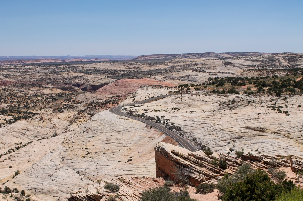 Scenic Byway 12 tussen Capitol Reef en Bryce Canyon