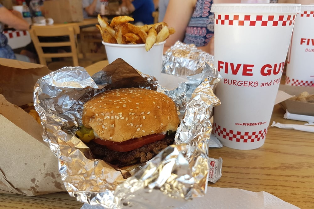 Hamburger bij Five Guys