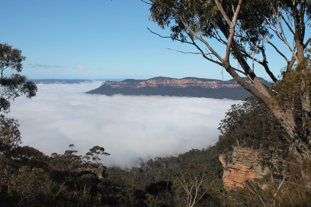 Clouds in Blue Mountains National Park