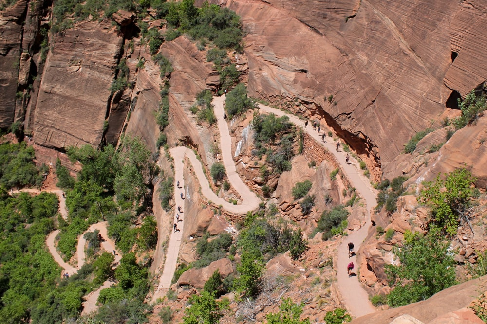 First switchbacks to Angels Landing