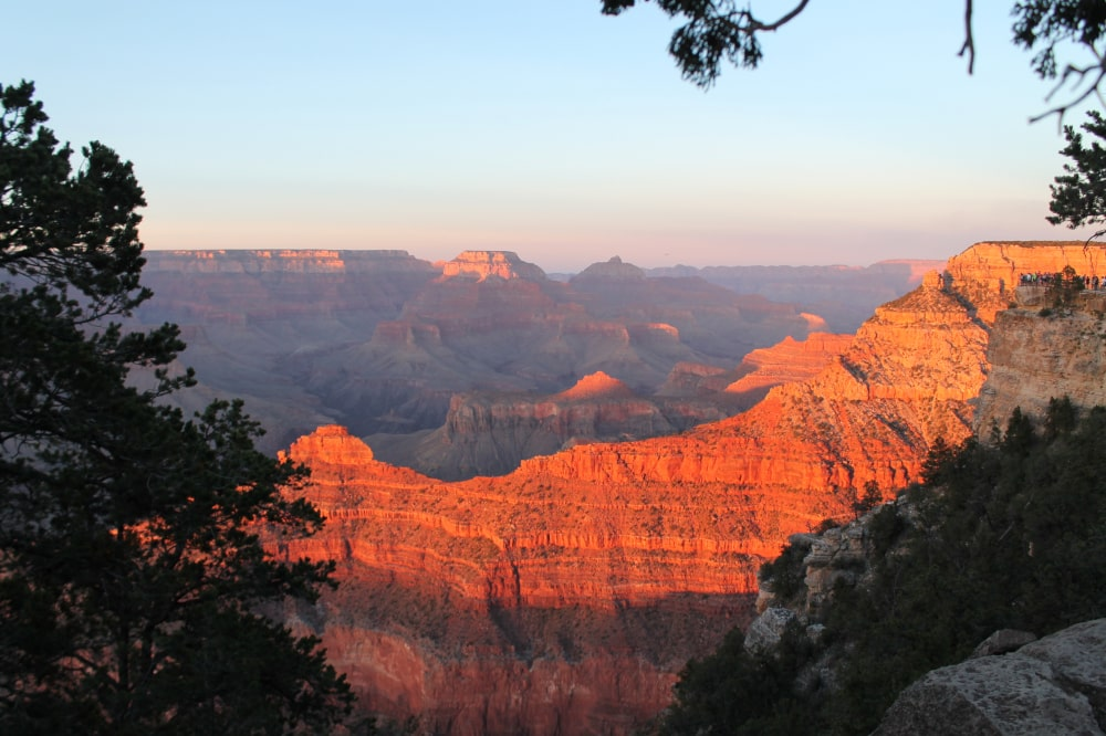 Zonsondergang in Grand Canyon National Park