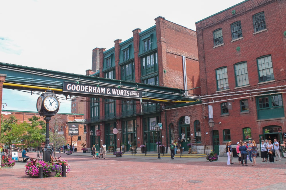 The trendy Distillery Historic District