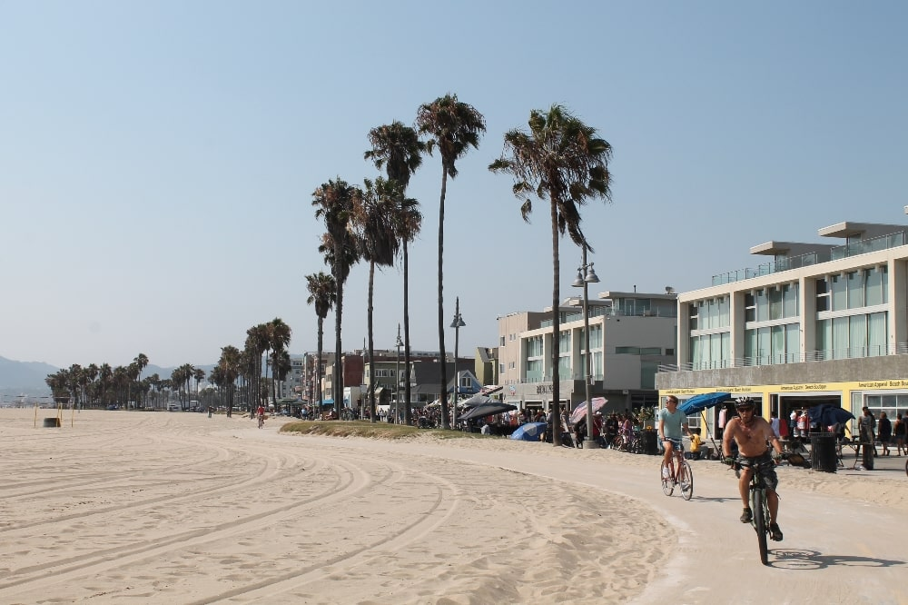 Cycling on Venice Beach