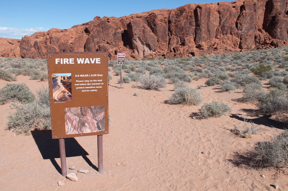 Valley of fire - wandeling Fire Wave