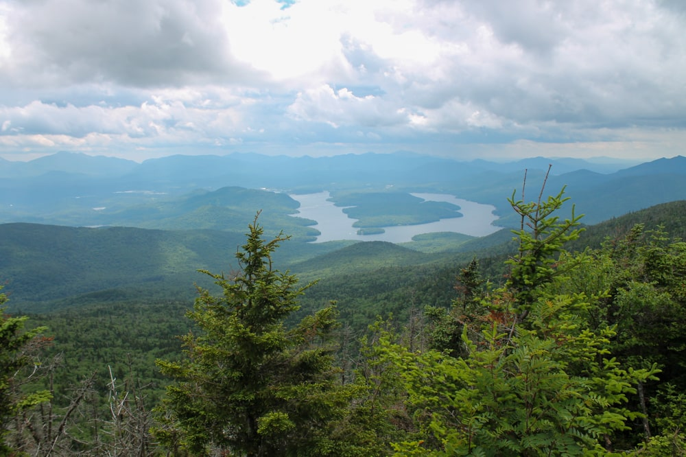 Views of the lakes at Lake Placid