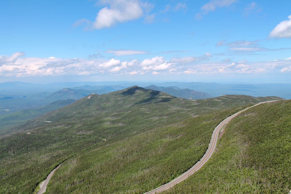 Whiteface Memorial Highway from above
