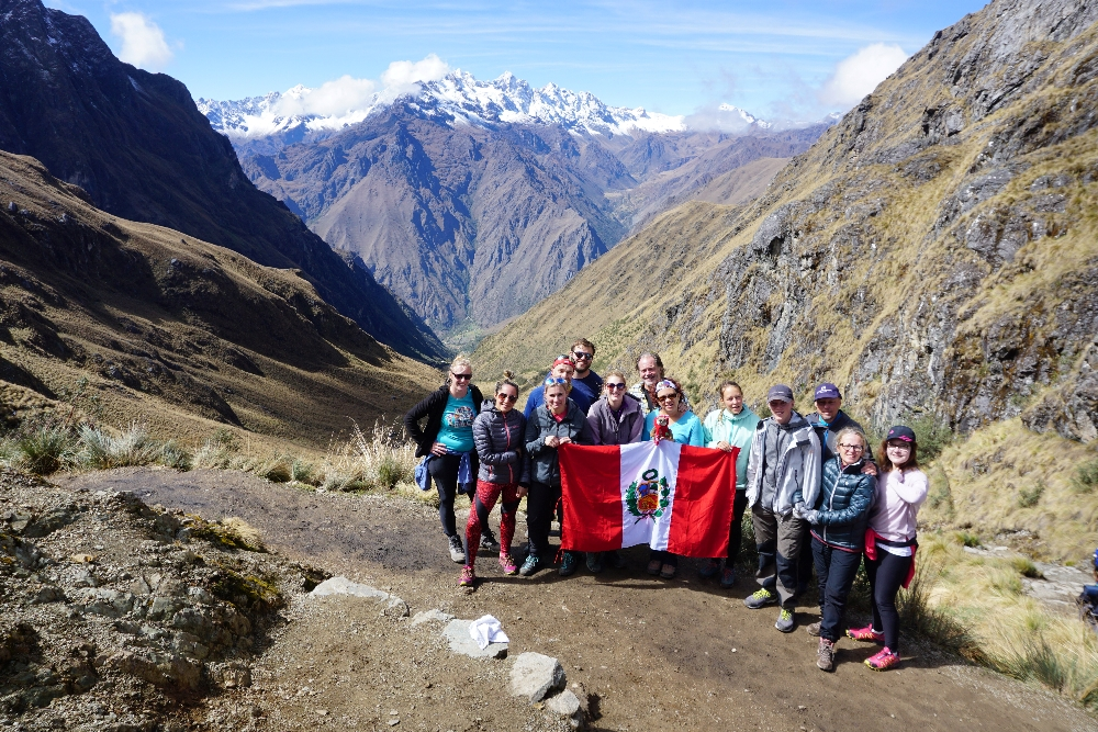 Inca Trail - top dead womans pass groep