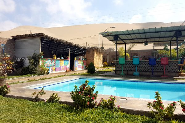 Het tofste hostel in Peru - The Upcycled Hostel Ica-Huacachina