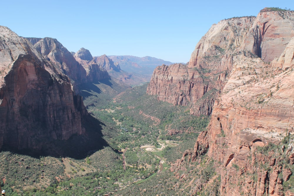 Zion Canyon as seen from Angels Landing
