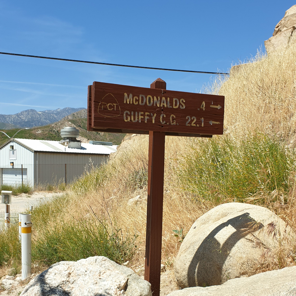 Van Big Bear Lake naar Wrightwood - Pacific Crest Trail week 4 - McDonalds
