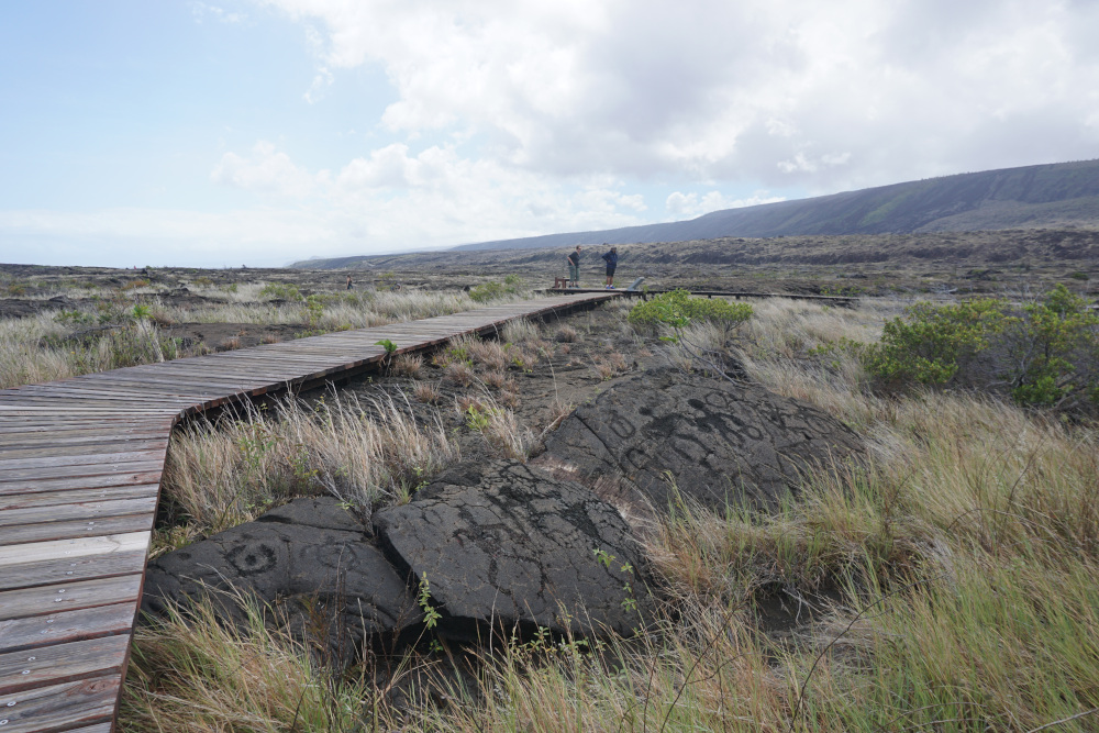 Hawaii - The Big Island - Volcanoes National Park - petroglyps