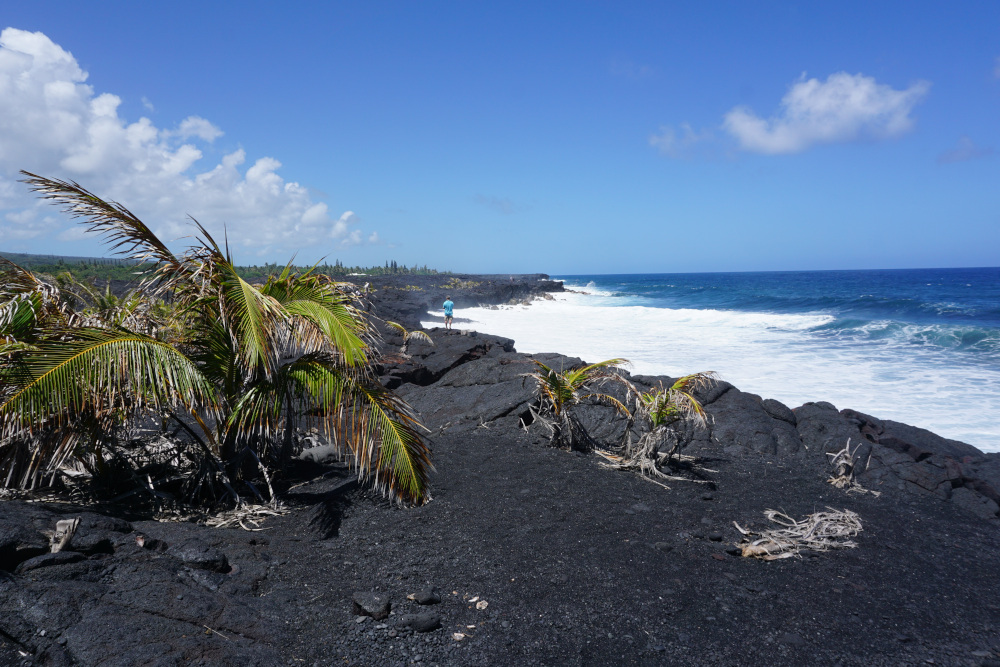 Hawaii - The Big Island - lava kust 3