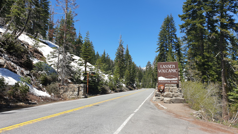 Terug in Californie - Lassen Volcanic National Park ingang