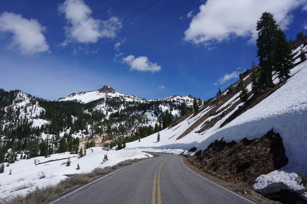 Terug in Californie - Lassen Volcanic National Park scenic road