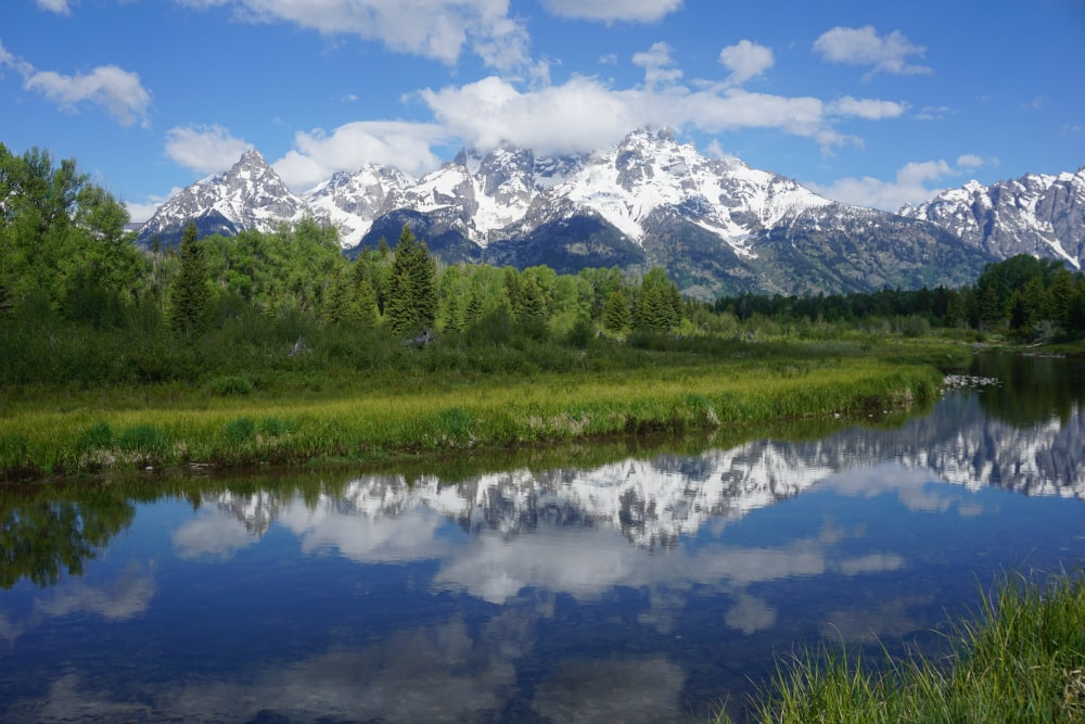 See the Tetons from Schwabacher Landing