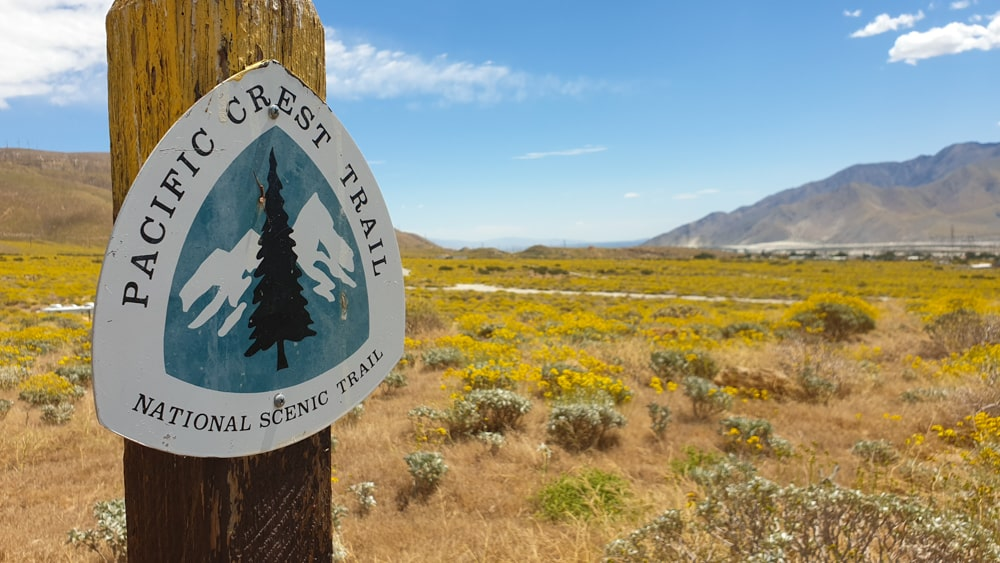 Bordje van de Pacific Crest Trail