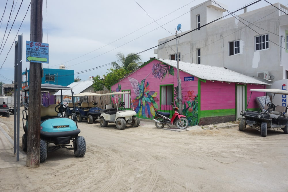 Golfcarts on Isla Holbox
