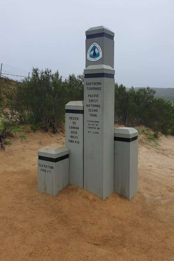 Southern Terminus PCT at the Mexican border