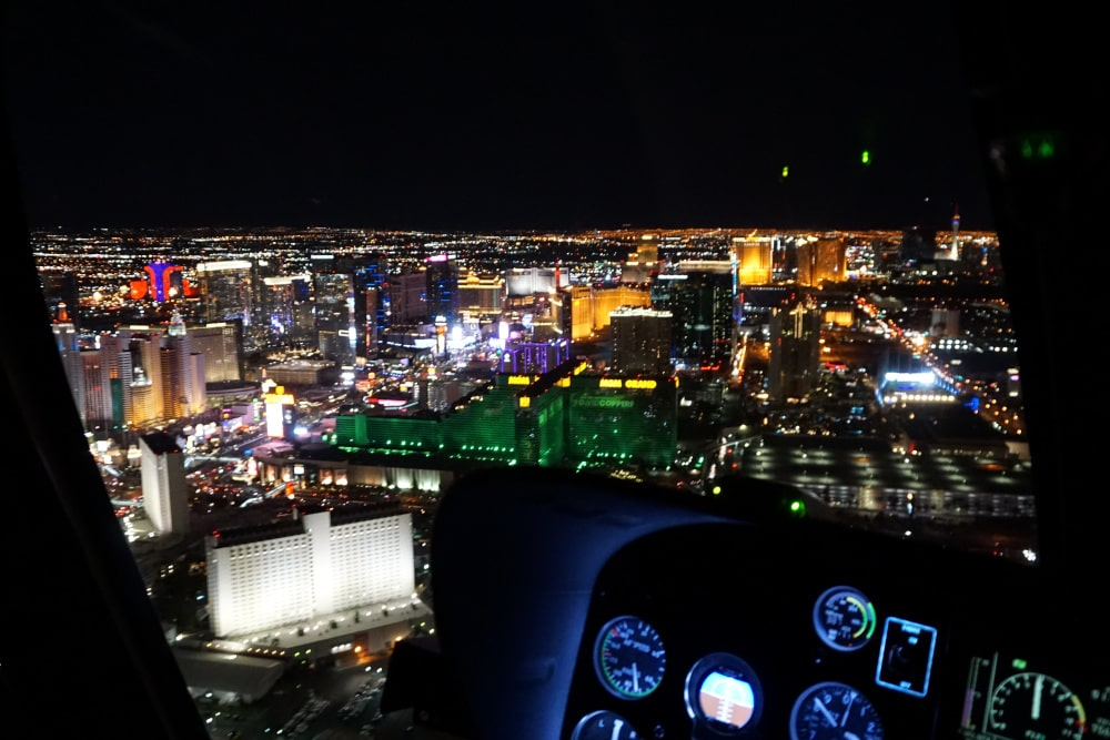 Helikoptervlucht over de Las Vegas Strip