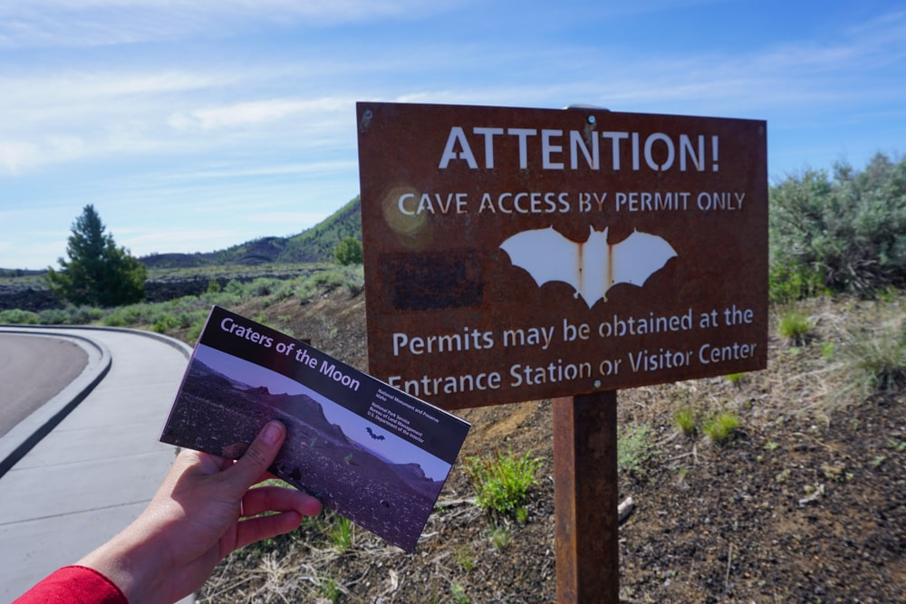 Permit to enter the caves