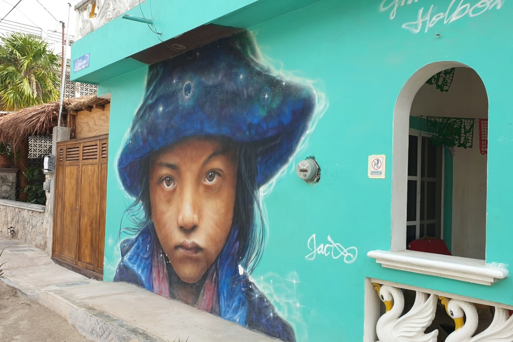 street art on Isla Holbox