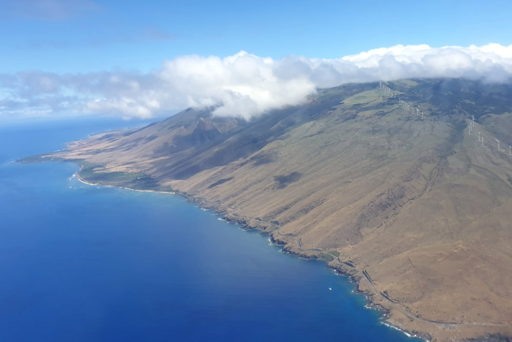 Flying over Maui
