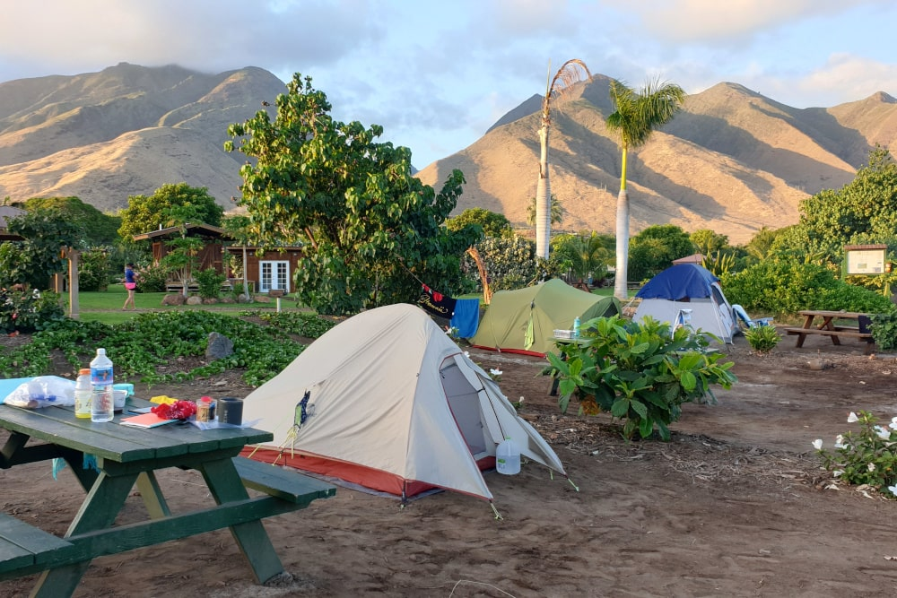 Camping on Hawaii