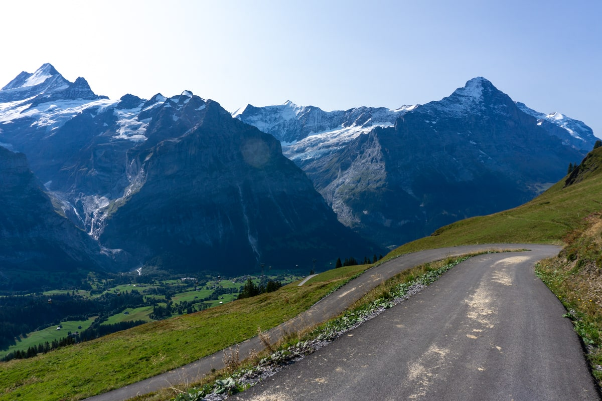 Just a couple more switchbacks to Grindelwald First