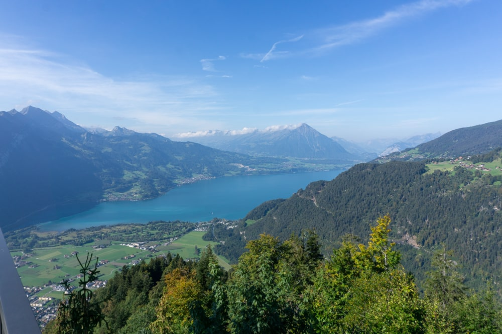 View of the Thunersee from Harder Kulm