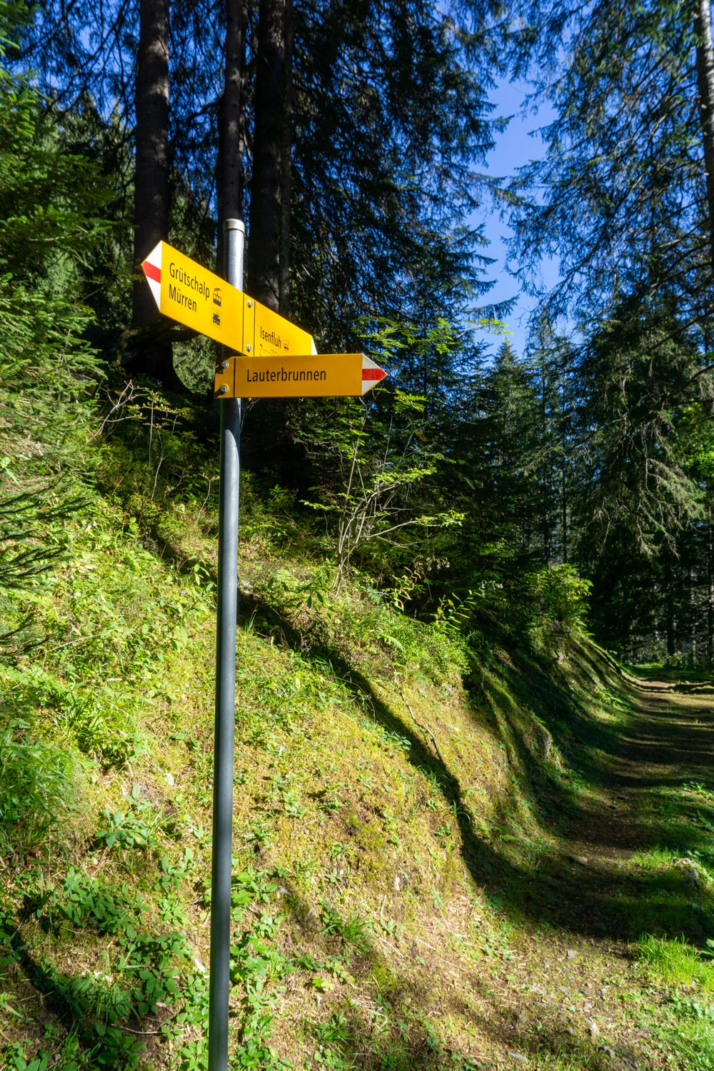 Hiking trails in Lauterbrunnen