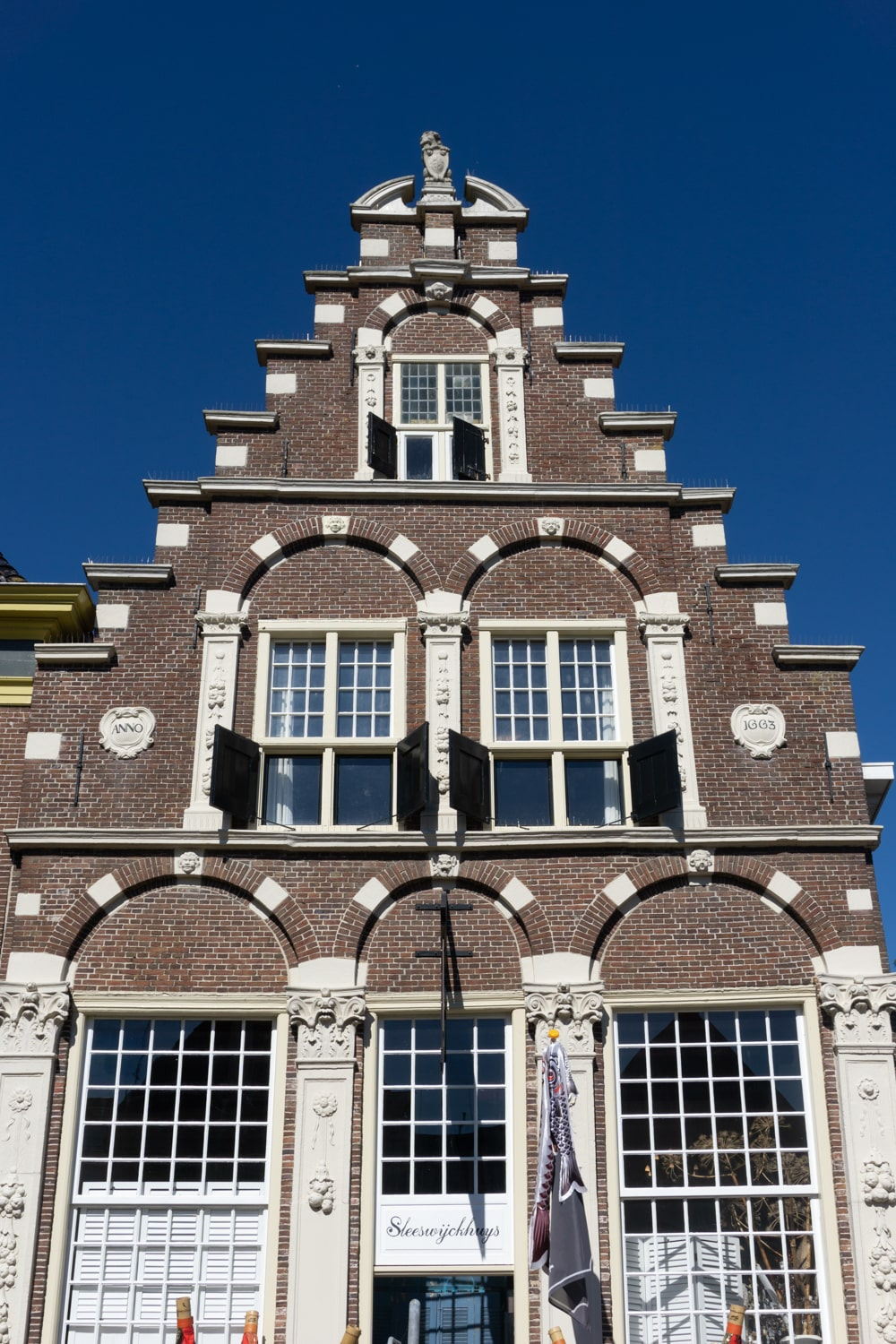 Gevelstenenmuur in Workum