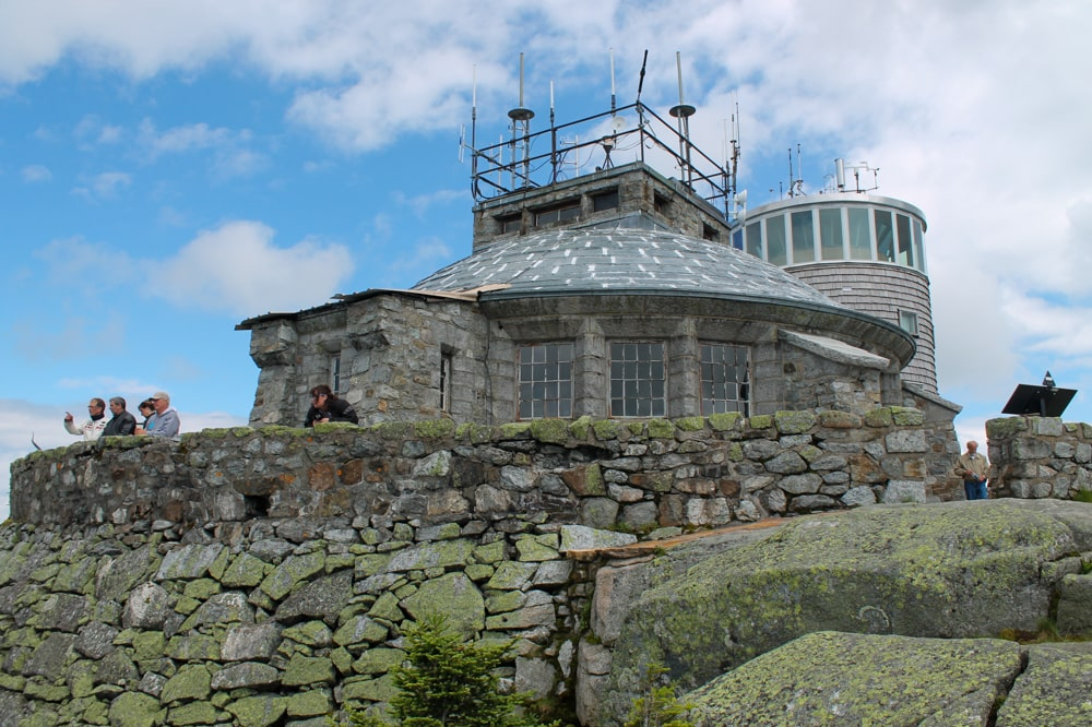 The weather station at the top of Whiteface Mountain.