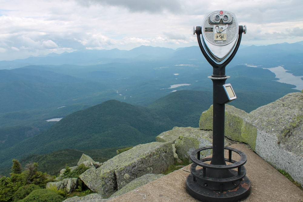 View from the top of Whiteface Mountain