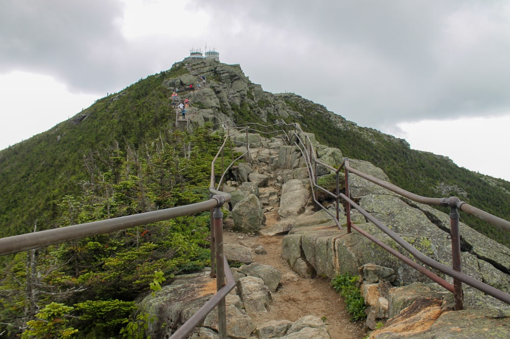 This trail takes you to the top of Whiteface Mountain