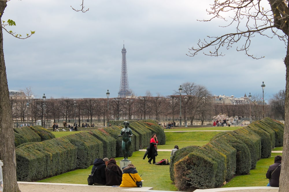 Jardin des Tuileries in Parijs