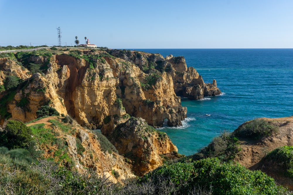 View of the lighthouse and Ponta Piedade