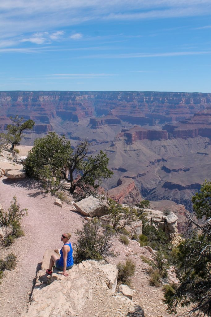 This is me alone at Shoshone Point - Grand Canyon