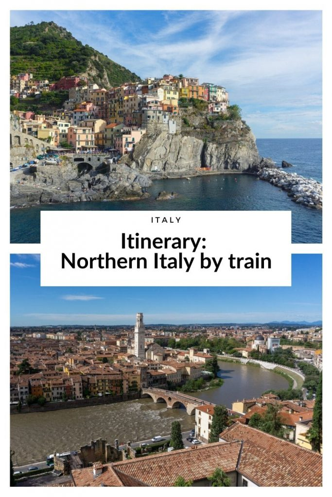 Northern Italy by train itinerary
