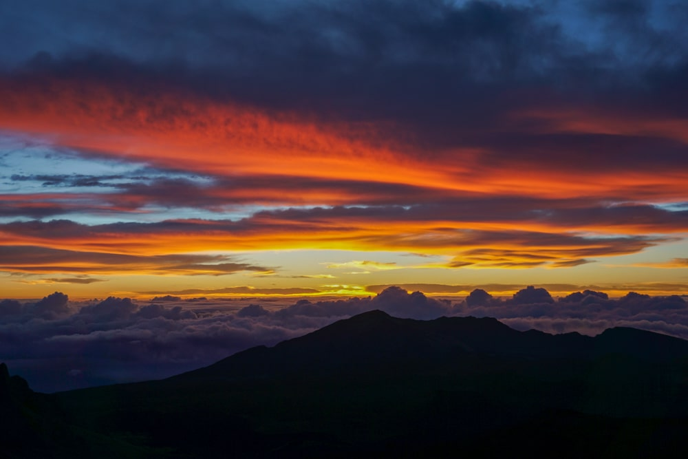 Zonsopkomst in Haleakala National Park