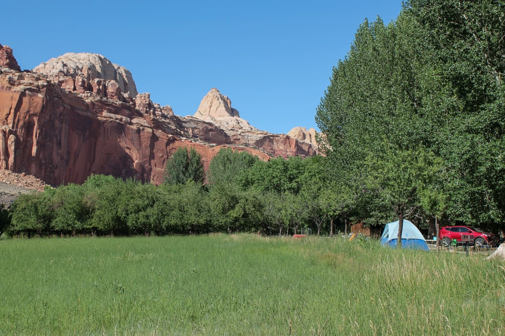 Camping in Capitol Reef National Park