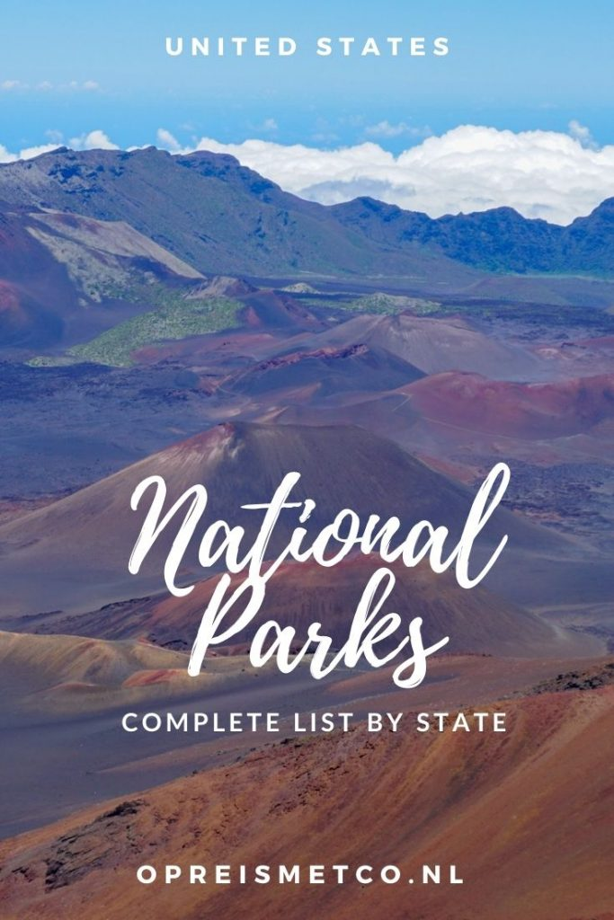 US National Parks list by state