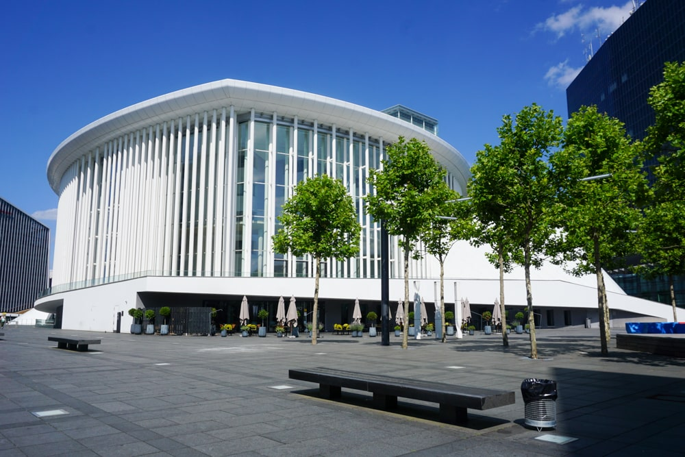 The Philharmonie Luxembourg in Kirchberg